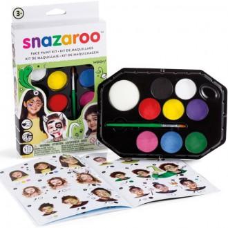 Ostatní hračky - Snazaroo - Sada 8 barev na obličej, Mix