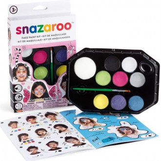 Ostatní hračky - Snazaroo - Sada 8 barev na obličej, Dívky