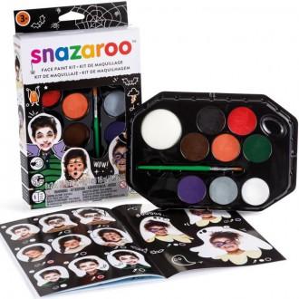 Ostatní hračky - Snazaroo - Sada 8 barev na obličej, Halloween