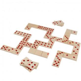 Dřevěné hračky - Domino - Berušky dřevěné, 28ks (Goki)