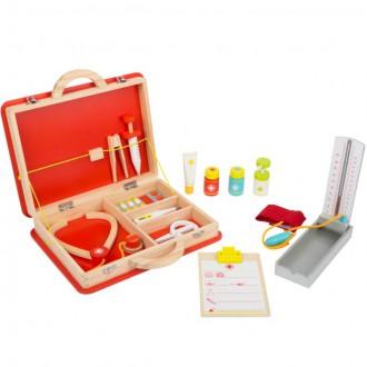 Dřevěné hračky - Doktor - Set v kufříku, Záchranářský (Legler)