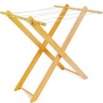 Dřevěné hračky - Hospodyňka - Dřevěný sušák na prádlo (Legler)