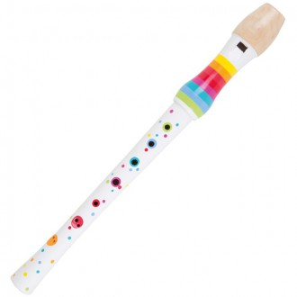 Dřevěné hračky - Hudba - Flétna zobcová 32cm, duhová (Legler)