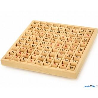 Dřevěné hračky - Didaktická pomůcka - Násobilka, Válečky na desce (Legler)