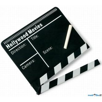 JIŽ SE NEPRODÁVÁ - Filmová klapka dřevěná, černá (Legler)
