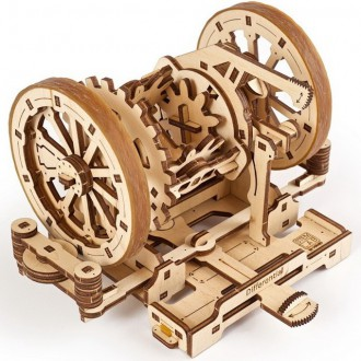 Stavebnice - 3D mechanický model - Steam Lab, Diferenciál (Ugears)
