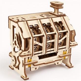 Stavebnice - 3D mechanický model - Steam Lab, Počítadlo (Ugears)