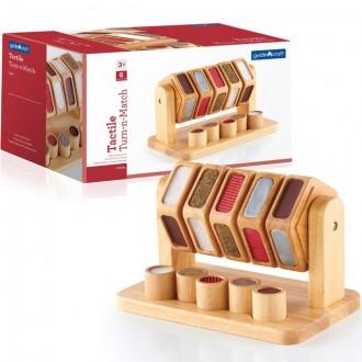 Dřevěné hračky - Didaktická pomůcka - Hmatový točící válec (Guidecraft)