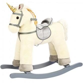 Pro nejmenší - Houpadlo - Houpací kůň, Jednorožec bílý (Bino)