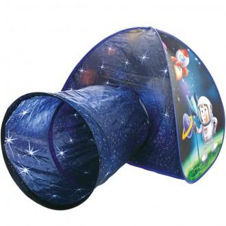 Ostatní hračky - Dětský domeček - Stan s tunelem kosmonaut (Bino)