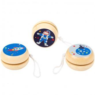 Dřevěné hračky - Drobné hračky - Jojo dřevěné, Space, 1ks (Legler)