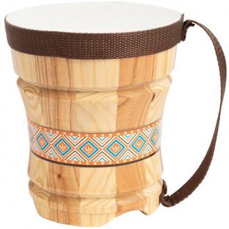 Dřevěné hračky - Hudba - Bubínek dřevěný, Bongo (Legler)