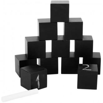 Stavebnice - Kostky - Dřevěné pokreslovací kostky, 12ks (Legler)