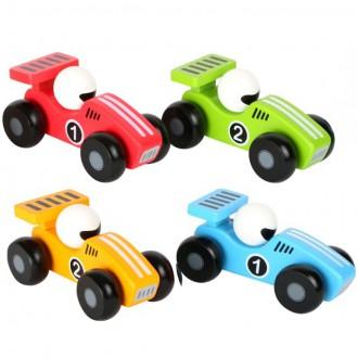 Dřevěné hračky - Auto - Dřevěné závodní autíčko 13cm, 1ks (Legler)