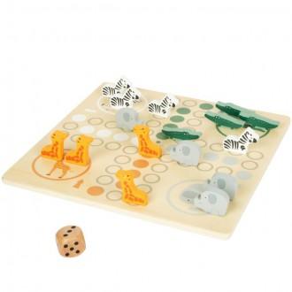 Dřevěné hračky - Člověče, nezlob se - Safari, dřevěné figurky (Legler)