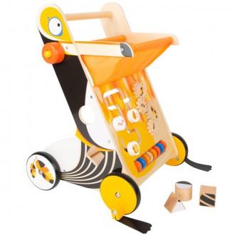 Pro nejmenší - Chodítko dřevěné - Motorický set, Tukan (Legler)