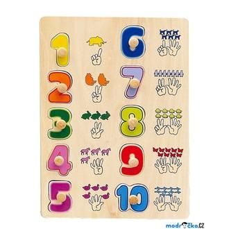Puzzle a hlavolamy - Puzzle výukové - Počítání na rukách (Woto)