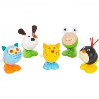 Dřevěné hračky - Drobné hračky - Natahovací skákací zvířátko, 1ks (Legler)