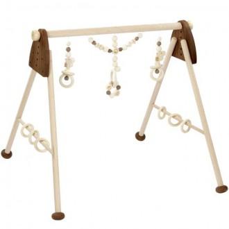 Pro nejmenší - Hrazdička - Dřevěná hrazda nastavitelná, Přírodní (Heimess)