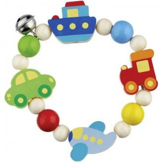 Pro nejmenší - Chrastítko - Kroužek korálkový, Dopravní prostředky (Heimess)