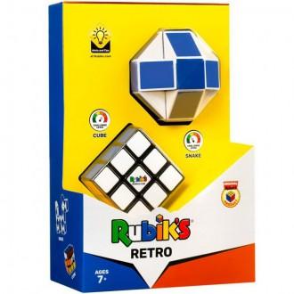 "Puzzle a hlavolamy - Hlavolam - Rubik""s, Sada retro (Had + Kostka 3x3x3) originál"