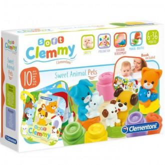 Pro nejmenší - Clementoni - Clemmy, Kostičky s knížkou domácí zvířata