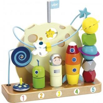 Dřevěné hračky - Skládačka - Multifunkční hračka Vesmír (Vilac)