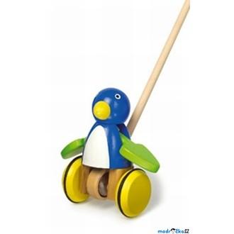 Dřevěné hračky - Jezdík na tyči - Tučňák s mávajícími křídly (Legler)