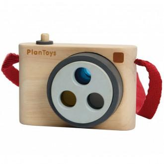 Dřevěné hračky - Fotoaparát dětský - Barevný fotoaparát (PlanToys)