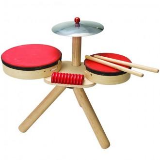 Dřevěné hračky - Hudba - Bicí nástroje dřevěné (PlanToys)