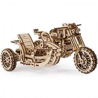 Stavebnice - 3D mechanický model - Motorka s vozíkem Scrambler UGR-10 (Ugeras)