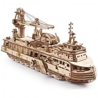 Stavebnice - 3D mechanický model - Výzkumný parník (Ugears)