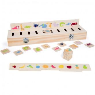 Dřevěné hračky - Didaktická pomůcka - Box na třídění obrázků, 40ks (Legler)