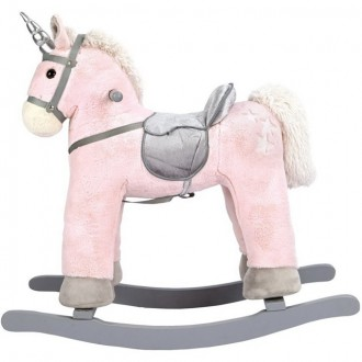 Pro nejmenší - Houpadlo - Houpací kůň, Jednorožec růžový (Bino)