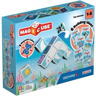 Stavebnice - Geomag - Magicube, Sea Animals 8 kostek
