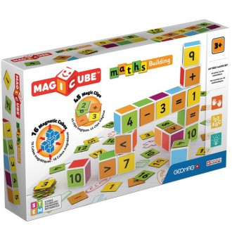 Stavebnice - Geomag - Magicube, Maths Building 16 kostek + 45 klipů