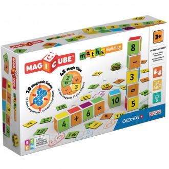 Stavebnice - Geomag - Magicube, Maths Building 10 kostek + 45 klipů