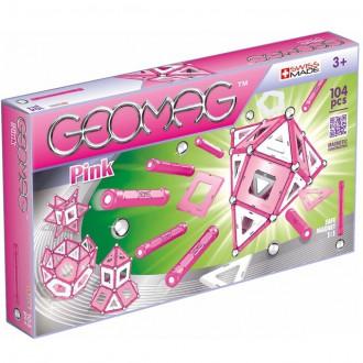 Stavebnice - Geomag - Pink, 104 ks