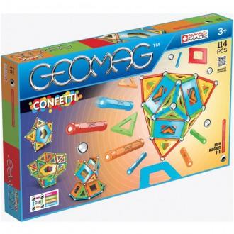 Stavebnice - Geomag - Confetti, 114 ks