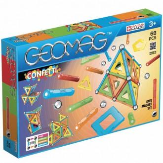 Stavebnice - Geomag - Confetti, 68 ks