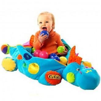 Pro nejmenší - K's Kids - Velký dinosaurus se 40 míčky