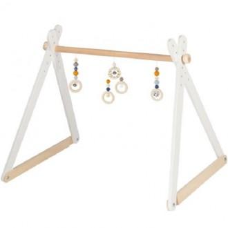 Pro nejmenší - Hrazdička - Dřevěná hrazda nastavitelná, Trendline holka (Heimess)