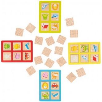 Dřevěné hračky - Didaktická hra - Lotto paměťová hra a pexeso 2v1 (Goki)