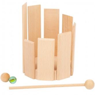 Dřevěné hračky - Hudba - Zvukový bubínek dřevěný (Legler)