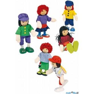 Dřevěné hračky - Panenky do domečku - Kamarádi, 6ks (Legler)