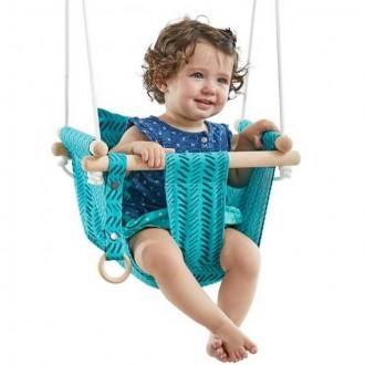 Na ven a sport - Houpačka - Dětská textilní 100% bavlna tyrkysová