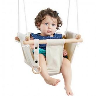 Na ven a sport - Houpačka - Dětská textilní 100% bavlna béžová