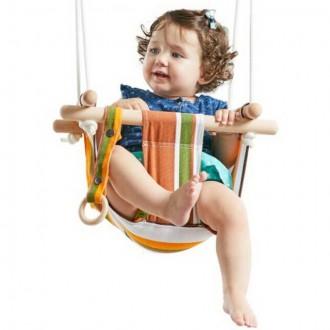 Na ven a sport - Houpačka - Dětská textilní 100% bavlna pruhovaná
