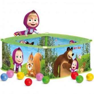 Pro nejmenší - Bazének s balónky - Máša a Medvěd, 50 ks balónků (Bino)