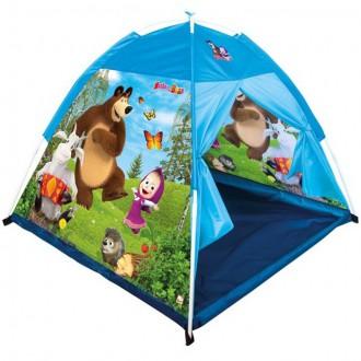 Ostatní hračky - Dětský domeček - Zahradní stan, Máša a Medvěd (Bino)